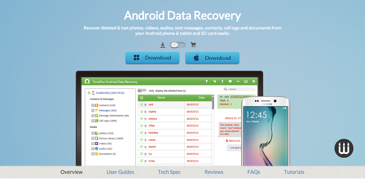 Android Data Recovery Recover Deleted Files from Android phones and tablets